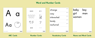 Starfall Flashcards - Flashcard example