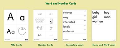 Starfall Flashcards - Flashcard example
